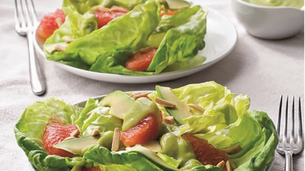 Bibb Lettuce with Grapefruit, Avocado, and Creamy Avocado Dressing