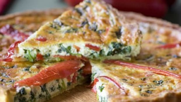 Kale and Red Pepper Quiche