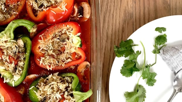 Stuffed Peppers with Rice and Mushrooms