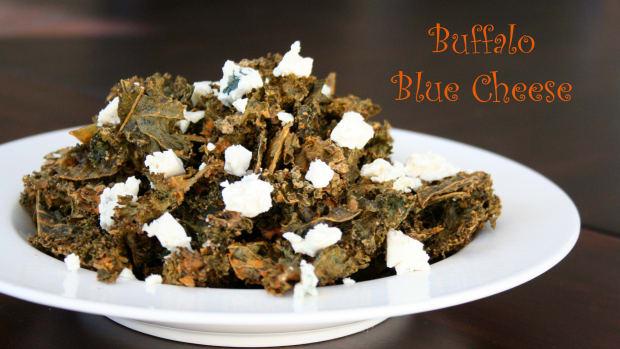 buffalo blue cheese kale chips