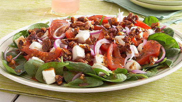 Warm Tomato-Spinach Salad