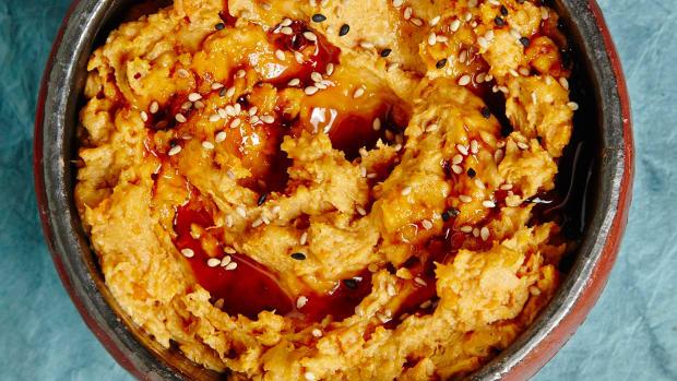 Sweet Potato Tahini with Silan