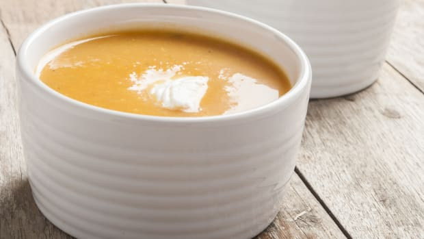 Easy squash soup hot or cold