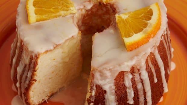 Orange Angel-Food Cake with Citrus Glaze