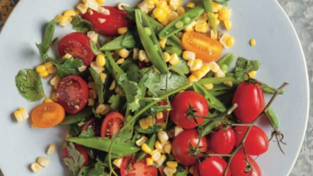Corn, Sugar Snap, Tomato Salad