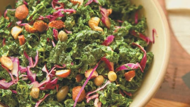 Creamy Kale Salad with Capers and Hazelnuts