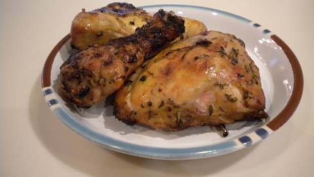 "Grilled ""Buttermilk"" Chicken with Herbs"