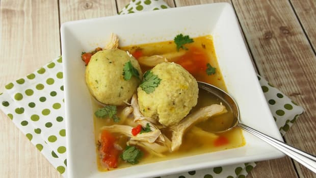 saffron-matzo-ball-soup-with-sofrito