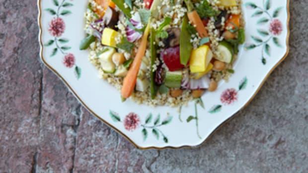 roasted chickpea millet salad