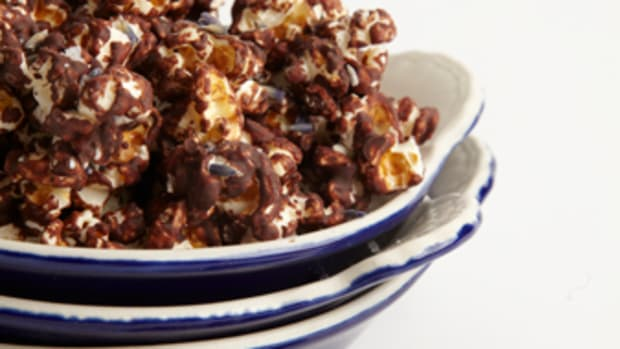 Mint Chocolate and Lavendar Popcorn