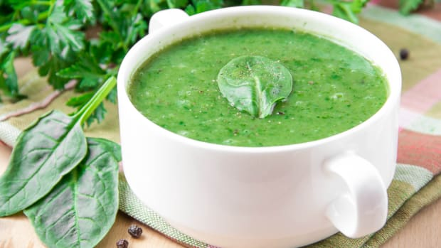 spinach or greens soup