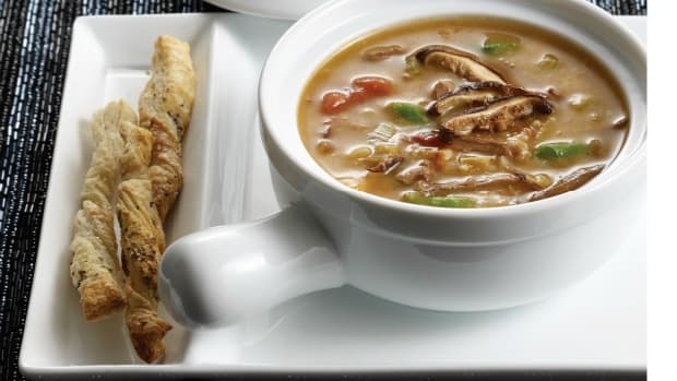 Shiitake Beef and Barley Soup