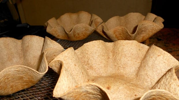 tortilla salad bowls
