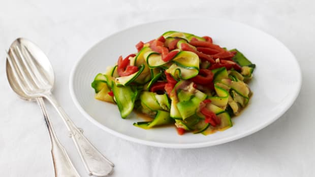 Zucchini and Red Bell Pepper Sauté