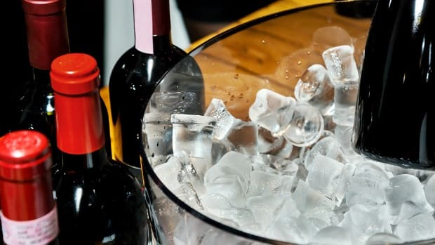 wine on ice