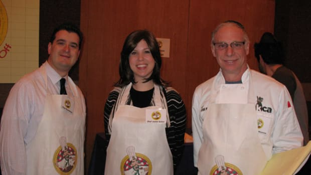 Elan Kornblum, Jamie Geller and Chef Avrum Wiseman