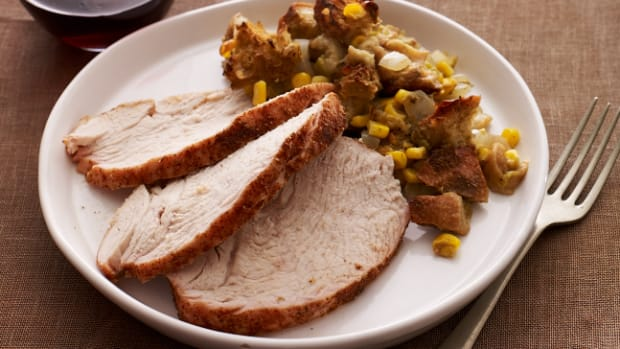 Southwestern Turkey Breast and Green Chili Stuffing