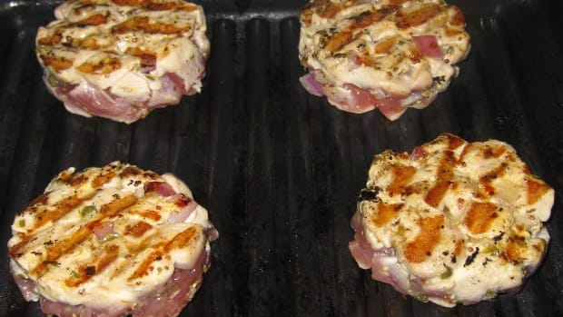 Mediterranean Tuna Burgers