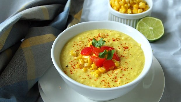 Raw Vegan Corn Chowder