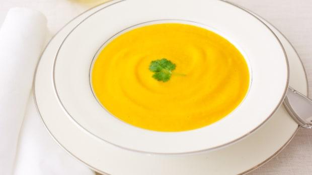 Non dairy Creamy Carrot Soup