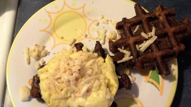 Smashed Potato Waffles