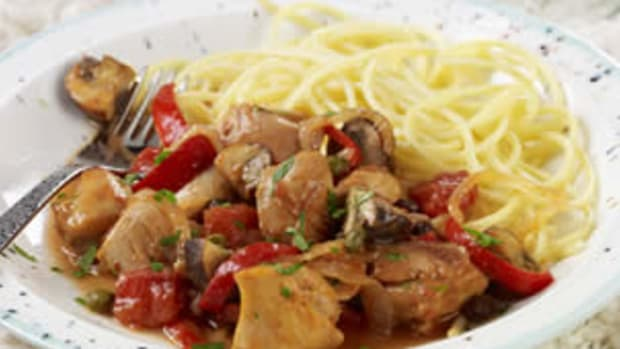 Slow-Cooked Italian Chicken and Mushrooms