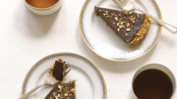 Chocolate Pretzel Crust Tart