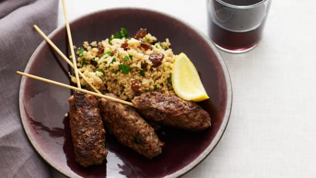 Seasoned Lamb Skewers with Couscous