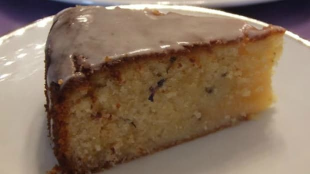 Lemon, Lavender, Almond Cake85