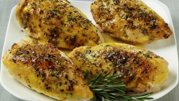 Orange Rosemary Glazed Chicken Breasts