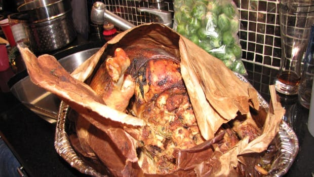 Turkey in a brown paper bag