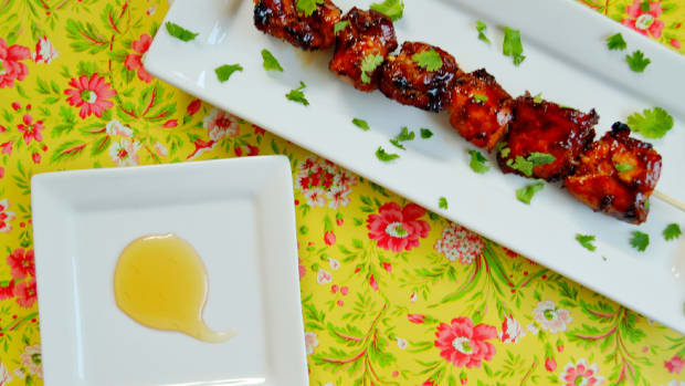 Grill Honey and Porter Glazed Chicken Kebabs