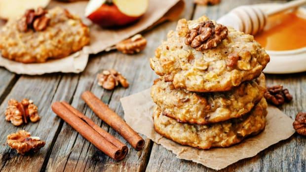 apple honey oat cookies
