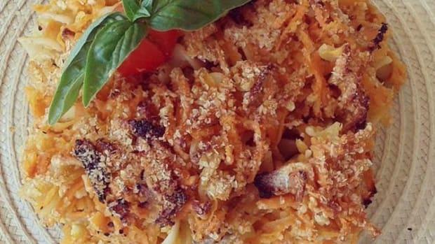 sweet potato noodle kugel