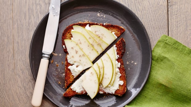 Pear Goat Cheese Toast