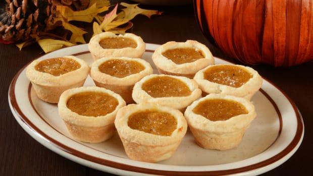 mini pecan pumpkin pies