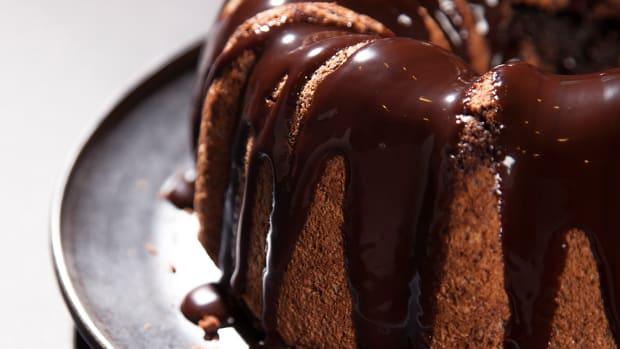 Chocolate Hazelnut Chiffon Cake