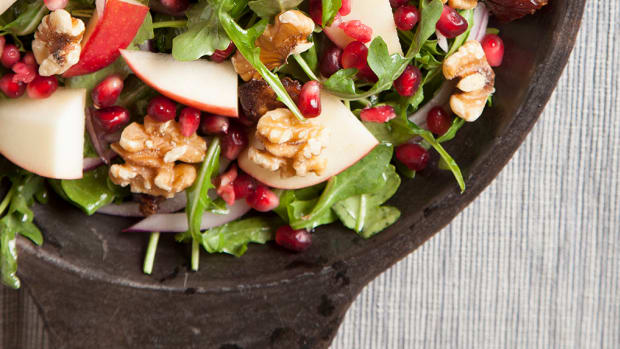 Pomegranate, apple and date salad