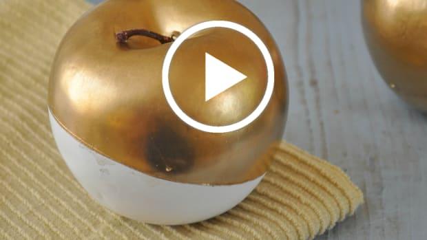 DIY Crafting: Golden Apples Centerpiece