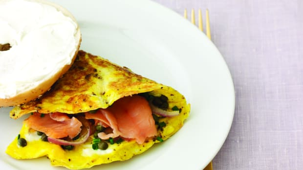 Wide Smoked Salmon Omelet