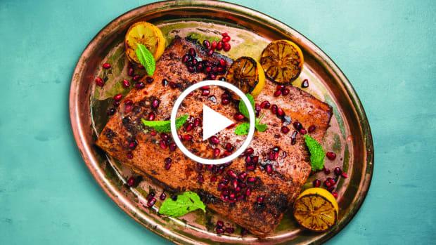 Pomegranate Sumac Salmon Video