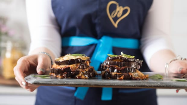 roasted eggplant stacks