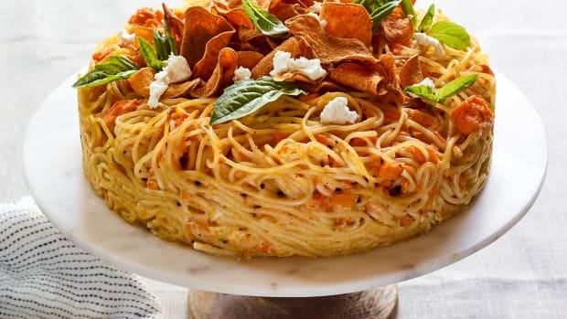 Sweet Potato Spaghetti Pie