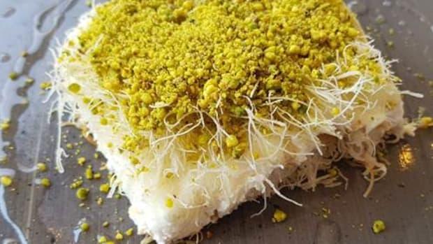 sweet cheese kanafeh