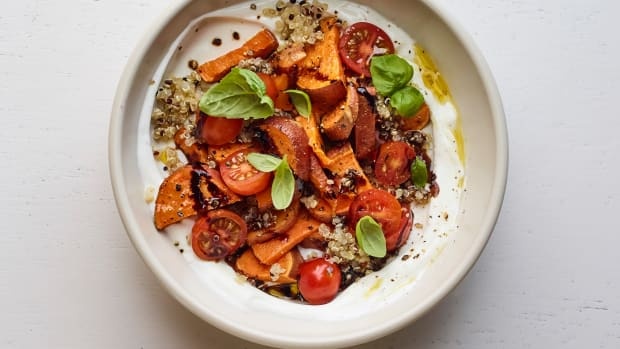 sweet potato yogurt bowl