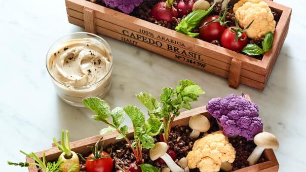 edible planter centerpiece