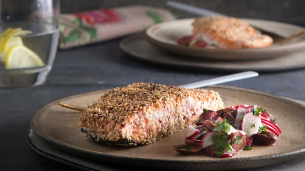 sumac sesame salmon