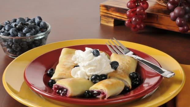 non-dairy fruit blintze souffle