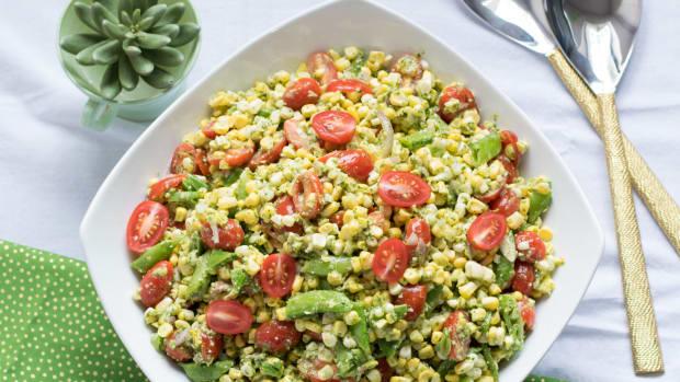 pesto corn salad