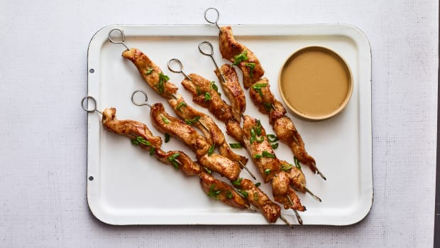 Chicken Satay with almond butter sauce